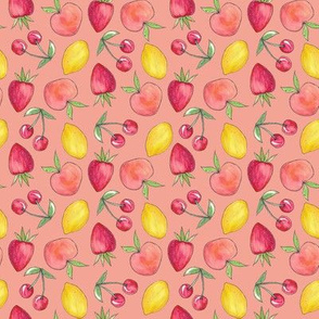 Feeling Fruity Print | Coral