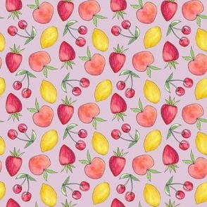 Feeling Fruity Print | Lilac