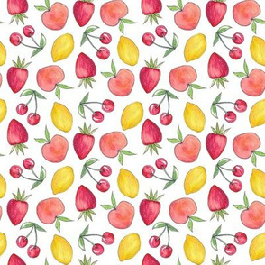 Feeling Fruity Print | White