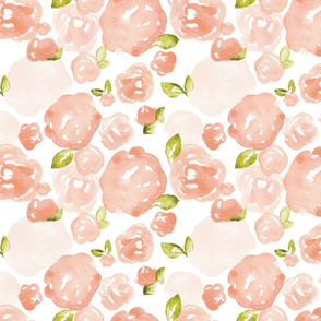 Peach Roses, Small