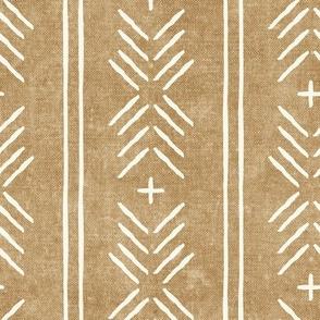 mud cloth arrow stripes - golden ecru - mudcloth tribal - LAD20