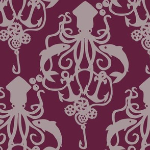 Squid Damask Wine Dark