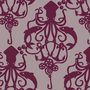Squid Damask Wine Light
