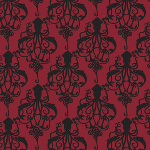 Squid Damask Ruby Light