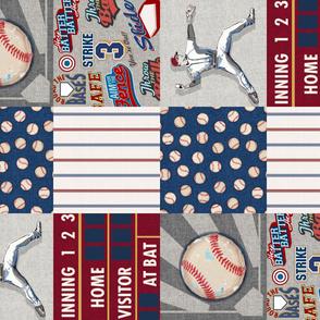 Baseball Patchwork Wholecloth 90' Sandlot Collection