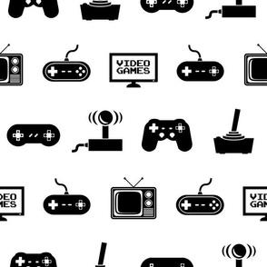 Video Games Pattern (Large Print Size Version)