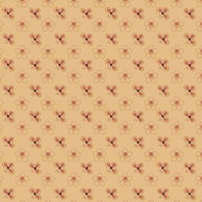 small 19th century beige and salmon 2032-20