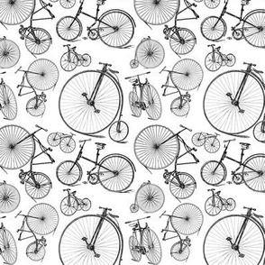Antique Bikes & Bicycles (Small Print Size)
