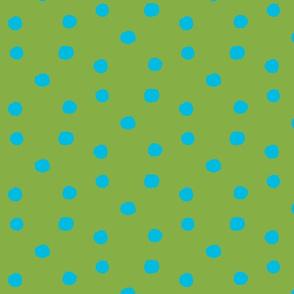 crazy dots  blue green