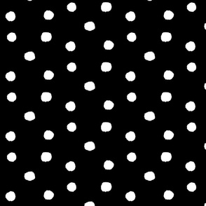 crazy dots  black and white