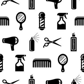 Salon & Barber Hairdresser Pattern (Medium Print Size)