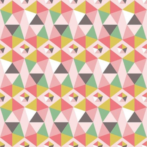 spring spirit pentagons on pink