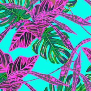 Contemporary Tropical Island Leaves