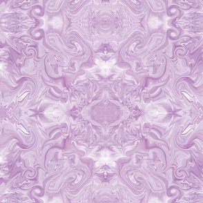 Large - Feathery Flights of Rococo Marble in Monochromatic Lavender