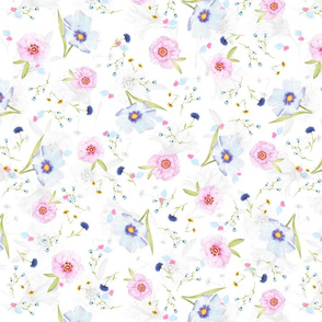 soft floral cornflowers