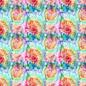 Botanical Watercolor Tie Dye (small scale)