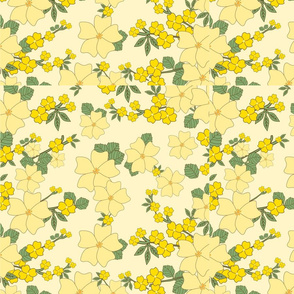 yellow corn flowers daffodils