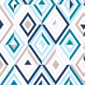 Geo Diamonds Blue