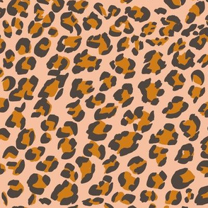Leopard on Blush Pink