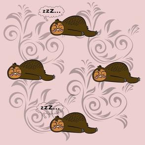 sleeping sloths blanket
