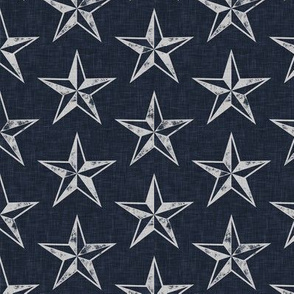 nautical stars - grey and blue - LAD20