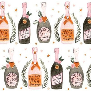 Feminine Icons Champagne Bottles - Small