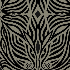 Modern Zebra Brown and Black