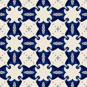 Intense Blue Pattern40