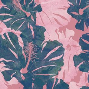 Aloalo Dark Teal on Pink 150