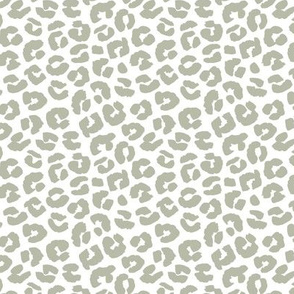 Chunky fat leopard print animals fur modern Scandinavian style raw brush  abstract trend eucalyptus sage green summer
