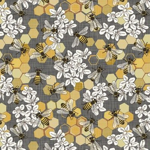 Save The Honey Bees - Grey - Small