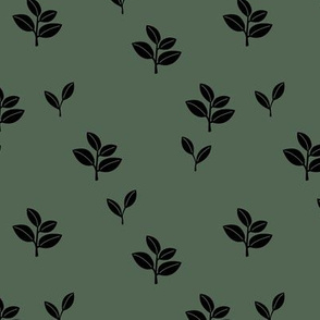 Sweet garden delicate leaves botanical Scandinavian style minimal trend design eucalyptus green sage winter