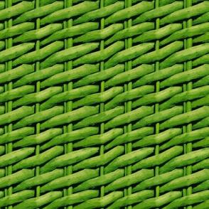 Woven Wicker Basket Rattan Wallpaper