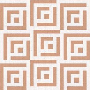 Maze Linen | medium | terracotta