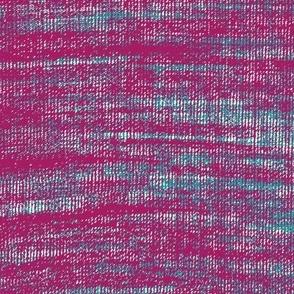 Coarse linen texture- magenta teal mashup