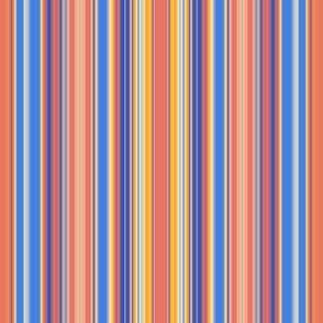 Narrow Orange Blue Yellow Stripes