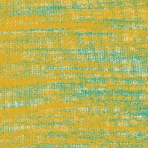 Coarse linen texture- mustard turquoise mashup