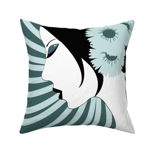Asian Woman Pillow Limited Color Design Challenge