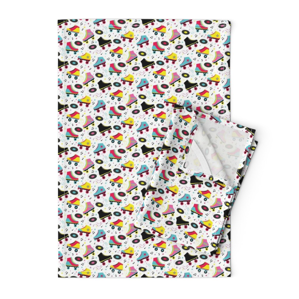 Orpington Tea Towels featuring Roller Disco by vintage_style