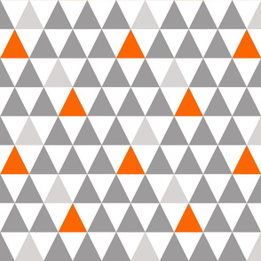 grey orange  triangles