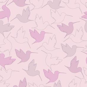 hummingbird outline - pink