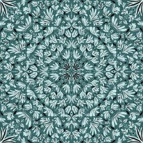 Pine & Mint leaves flowers simple pattern