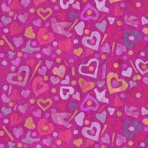Hearts Tissue Paper Collage Pattern  Julia Khoroshikh 02 2020 Pink Big SAT