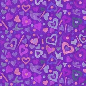 Hearts Tissue Paper Collage Pattern  Julia Khoroshikh 02 2020 Ultramarine Big