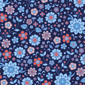 retro flower ♦ variation No 1.