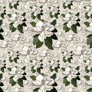 Off white florals