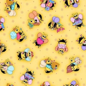 Whimsy Bees Yellow small