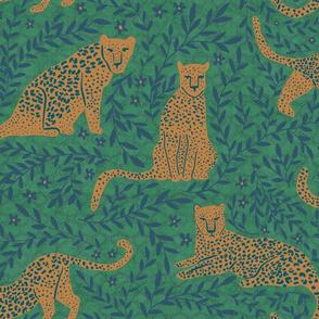 Jungle Cat - Argyle Green