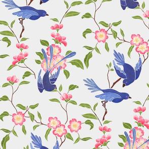 Ming Inspired Blue Birds