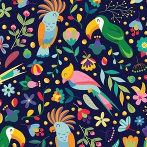 Tropical Birds Large